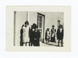 American Indian Children outside Bloomfield Academy, Oklahoma
