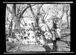 Girls at Government School, Concho, Oklahoma