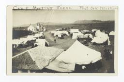 Camp Meeting Scene at Post Oak Mission, near Indiahoma, Oklahoma