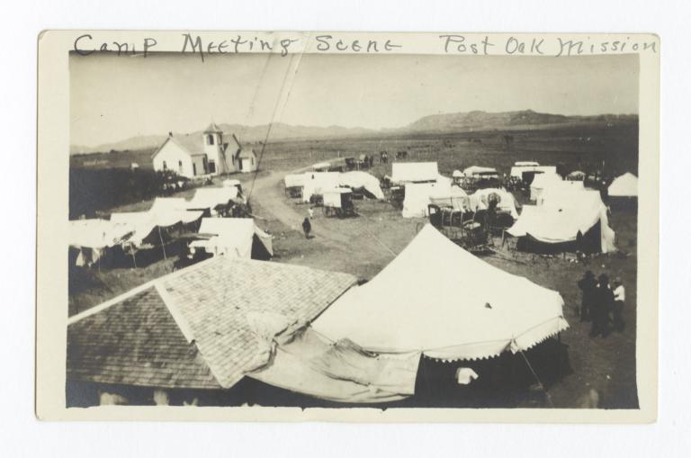 Camp Meeting Scene at Post Oak Mission, near Indiahoma, Oklahoma