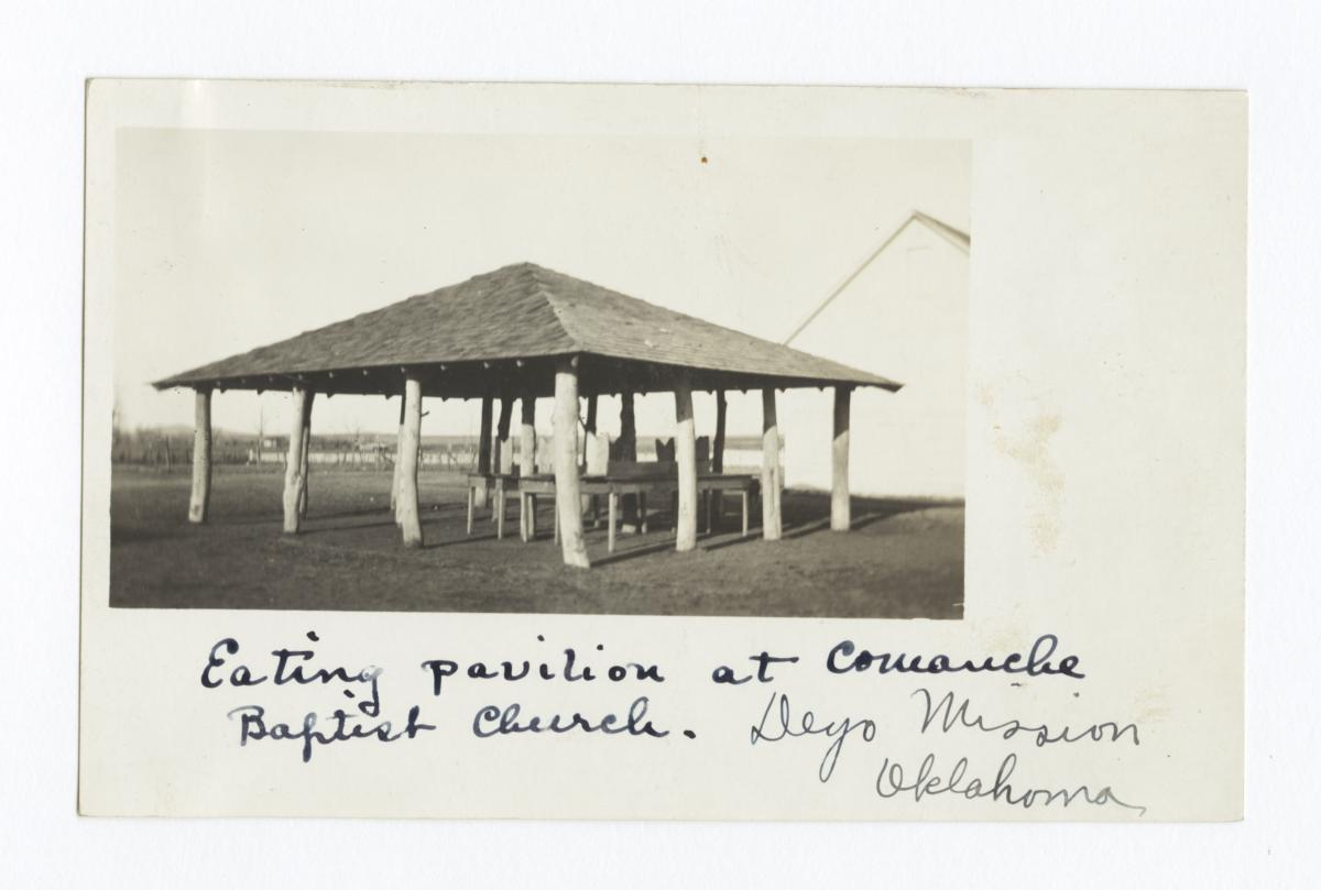Eating Pavilion at Comanche Baptist Church Deyo Mission, Oklahoma