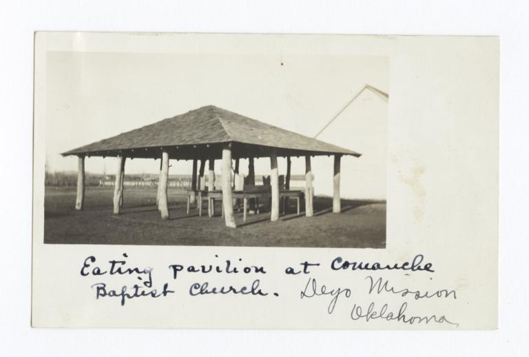 Eating Pavilion at Comanche Baptist Church Deyo Mission, Oklahoma