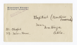 Envelope for Photos (1262, 1264) and Negatives (1263, 1265) of Baptist Mission, Watonga, Oklahoma