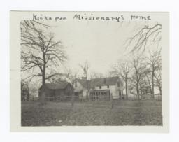 Kickapoo Missionary's Home, near McLoud, Oklahoma