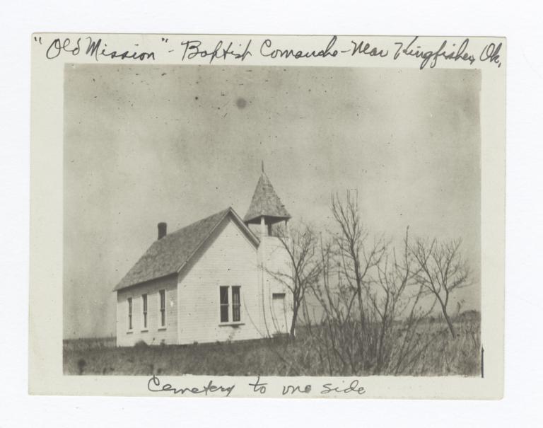 Baptist Comanche Church with Cemetery, near Kingfisher, Oklahoma