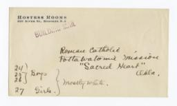 Envelope for Negative (1291) of Sacred Heart Mission, Pottawatomie, Oklahoma