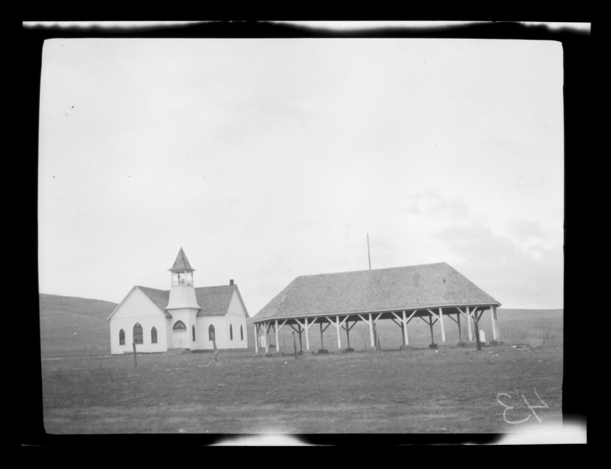 Chapel and Eating Pavilion, Saddle Mountain Mission, Oklahoma