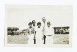 Mr. and Mrs. Thomas Wamego with Children, Missionaries to the Ponca and Kaw People