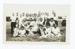 Group of Ponca Indians, and Pastor T.J. Wamego, Ponca City, Oklahoma