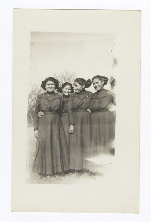 Cheyenne Indian Girls in 1910, Colony, Oklahoma