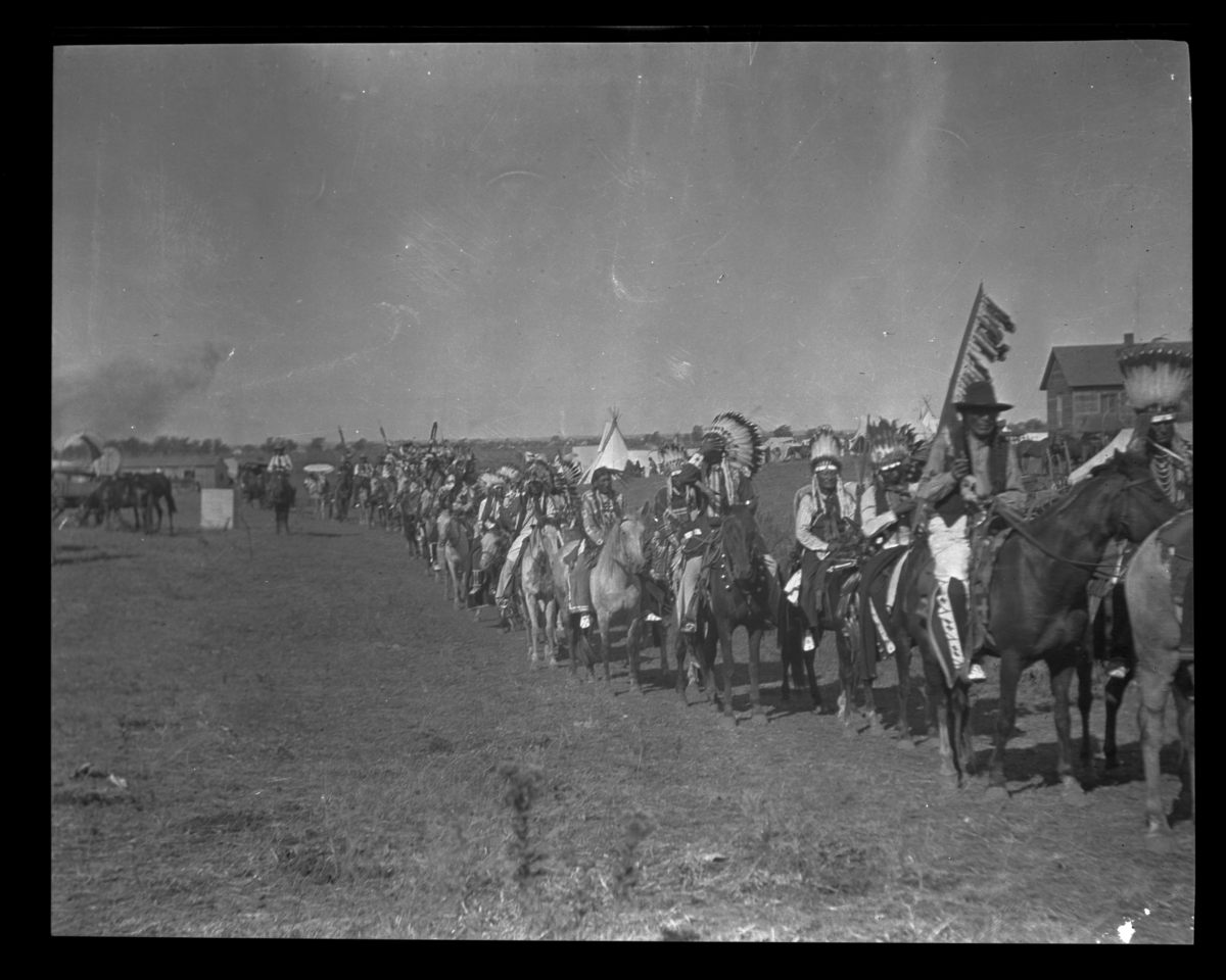 Passing of Indians on the Old Trail, Oklahoma