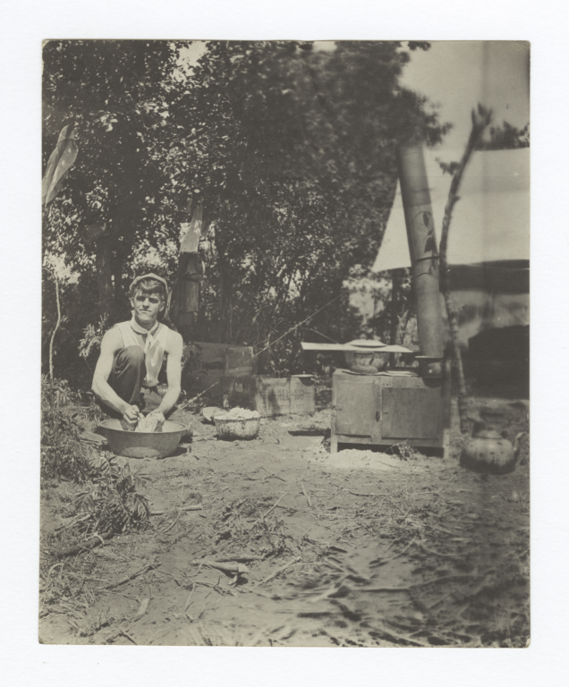 Missionary at His Own Camp Fire, Colony, Oklahoma