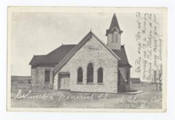 Columbian Memorial Church Postcard, Colony, Oklahoma
