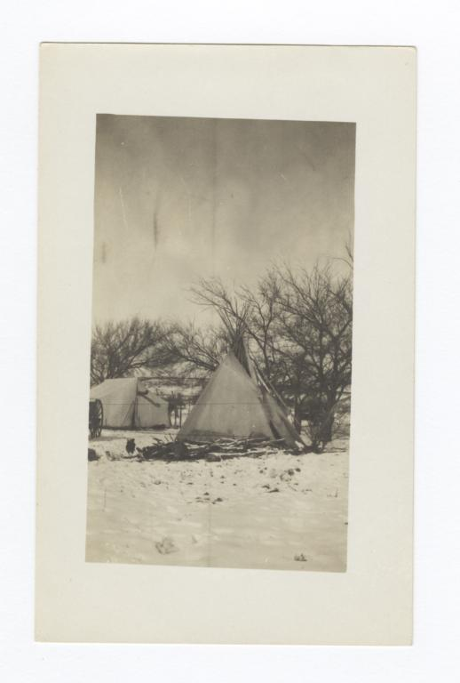 Tipi in Snow