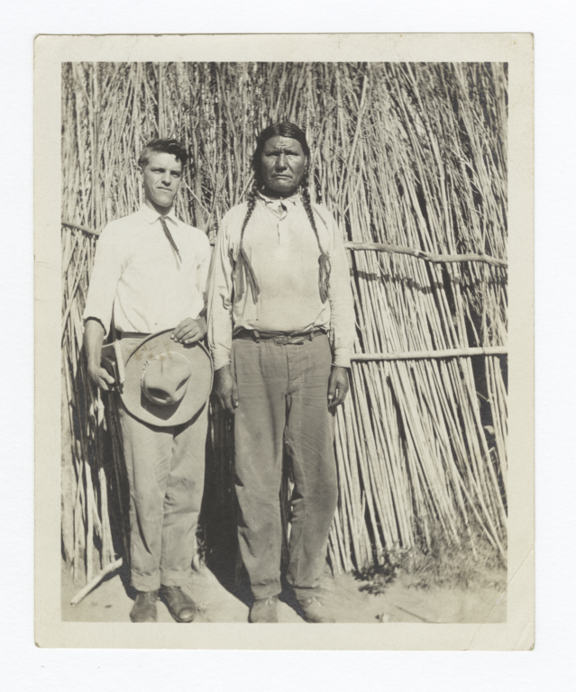 G.E.E. Lindquist with American Indian Man