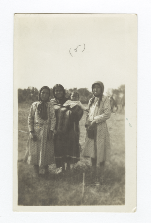 Three American Indian Girls with Baby