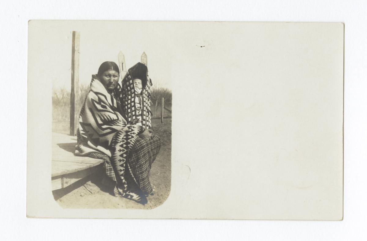American Indian Woman with Baby