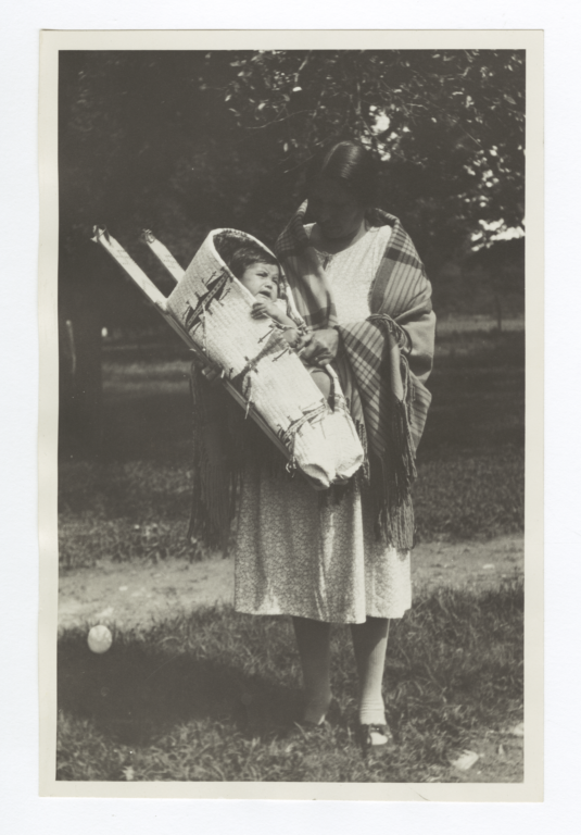 Young American Indian Woman with Baby