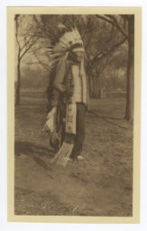 Old Two Crows, Cheyenne Indian, in Traditional Dress