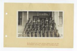 Wasco, Paiute, and Warm Spring Indian Boys in Uniform at Government Boarding School, Oregon