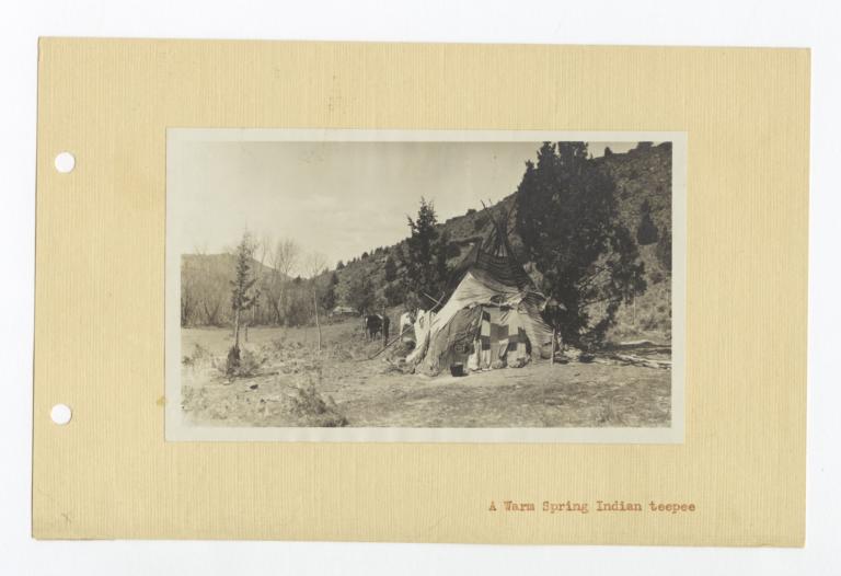 Warm Spring Indian Tipi, Oregon
