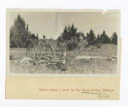 Sweat House, Warm Spring Indians, Oregon