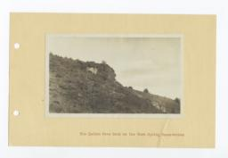 The Indian Face Rock, on Warm Springs Reservation, Oregon