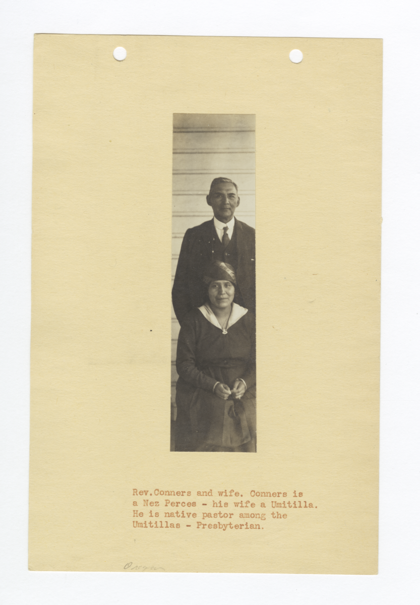 Reverend Connor, Presbyterian Pastor, and His Wife, Oregon