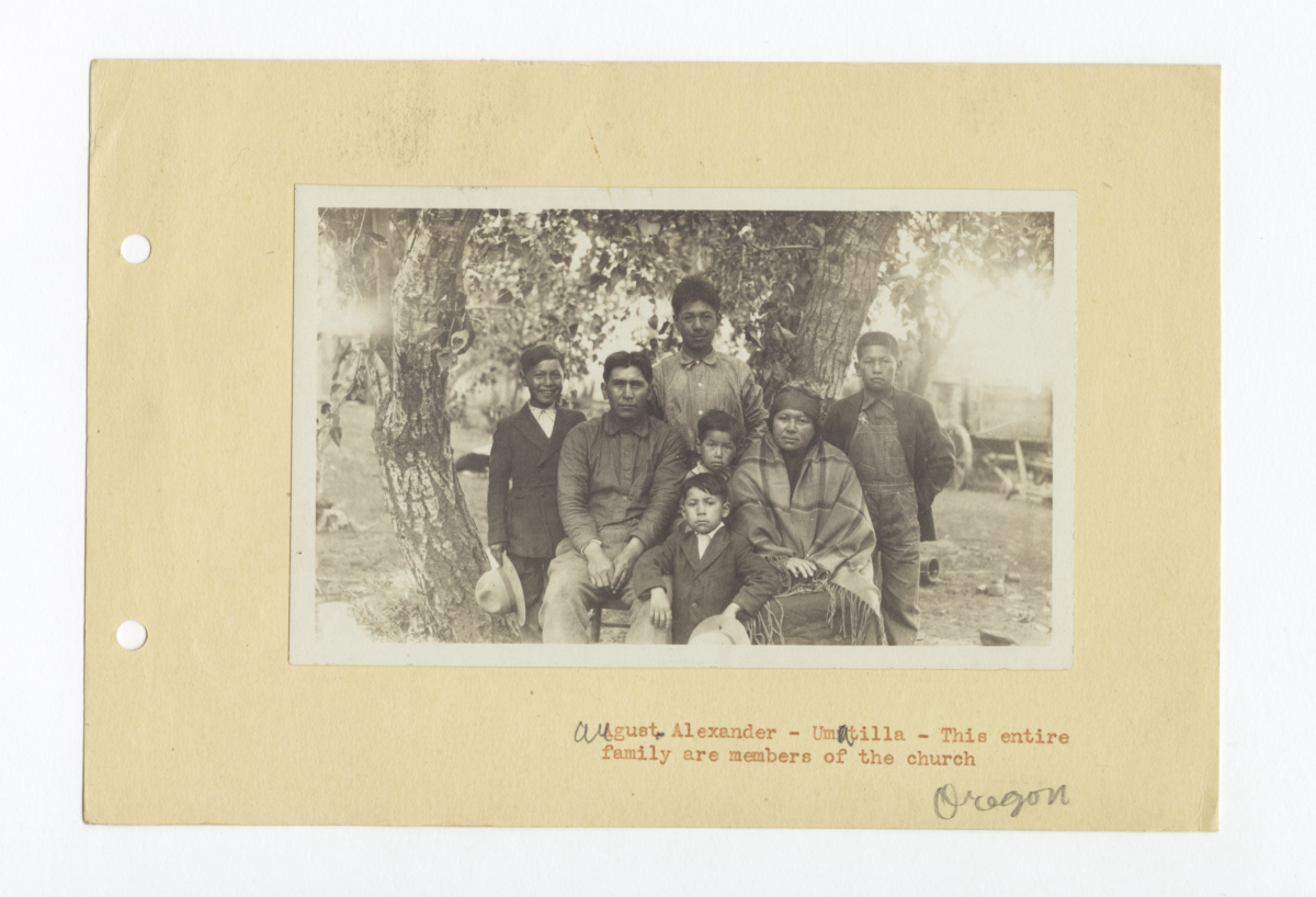 August Alexander and Family, Umitilla Church Members, Oregon