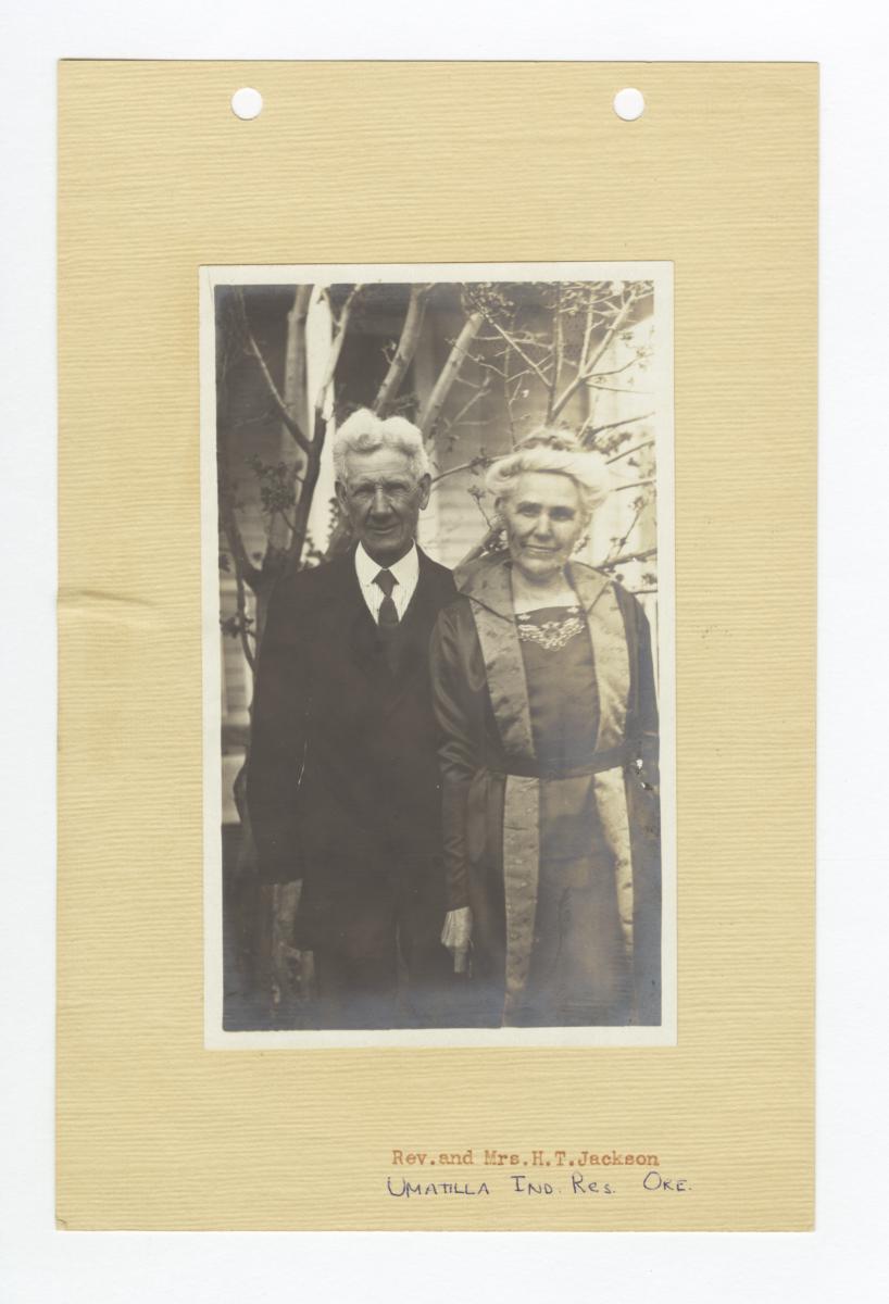 Reverend and Mrs. H.T. Jackson, Umatilla Reservation, Oregon