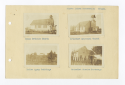 Roman Catholic, Methodist Episcopal, Agency and Methodist Mission Buildings on Siletz Reservation