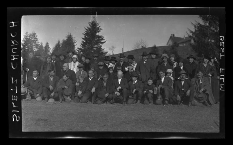 Christian Siletz Men at Methodist Mission, Oregon