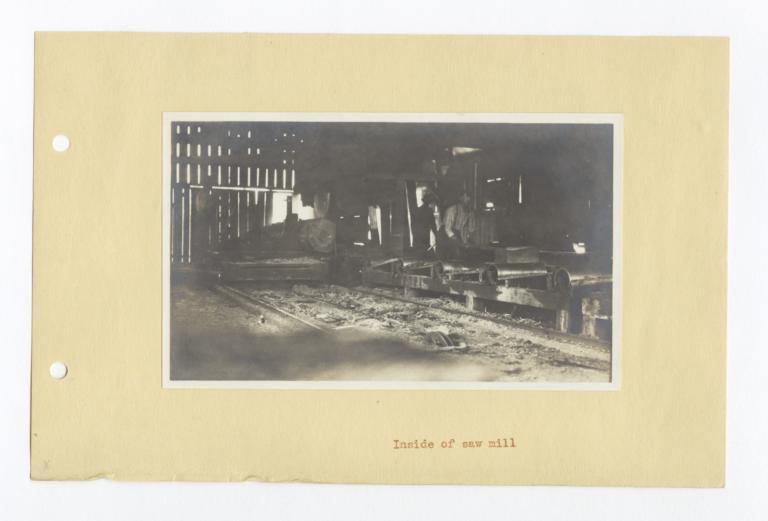 Interior View of a Saw Mill, Klamath, Washington