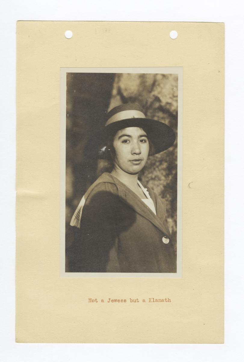 Portrait of a Young Klamath Woman in a Hat