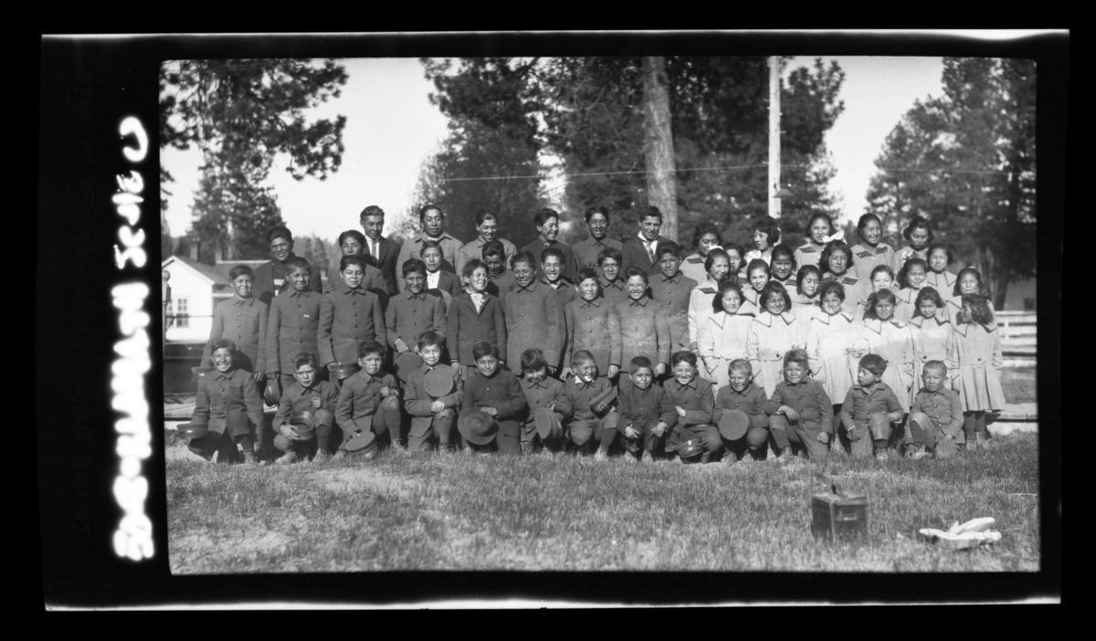 Large Group of Students from the Klamath Agency Government School
