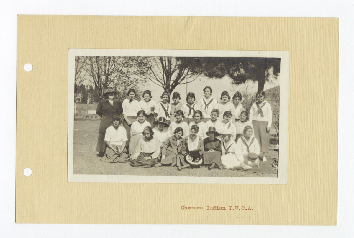 Group of Young Woman from the Chemawa Y.W.C.A., Oregon