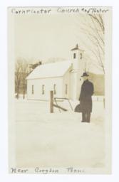 Cornplanter Senaca Church and Pastor, near Corydon, Pennsylvania
