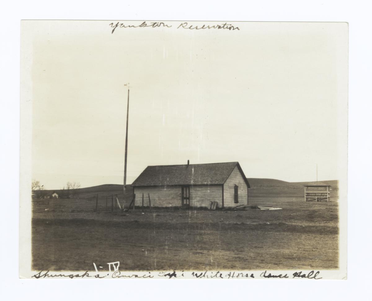 Shungska Owaci Tipi White Horse Dance Hall, Yankton Reservation