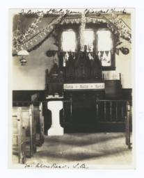 Interior of Holy Name Episcopal Church, Yankton Reservation, South Dakota