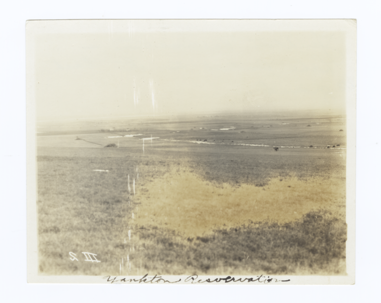 South Dakota Plains with Yankton Reservation and Lake Andes in the Distance