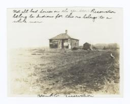 House on the Yankton Reservation, South Dakota