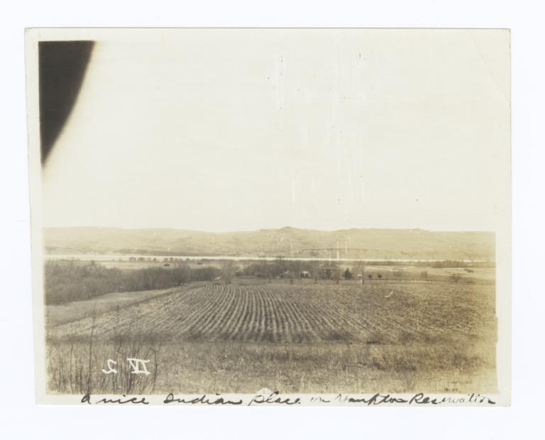 Field and House of John Hopkins, Yankton Reservation, South Dakota
