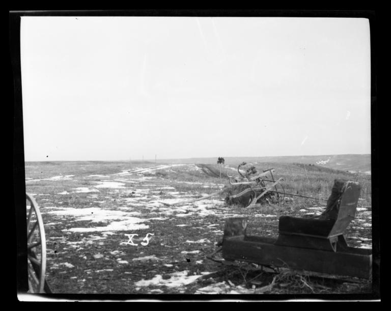 Landscape with Wagons, Rosebud Reservation, South Dakota