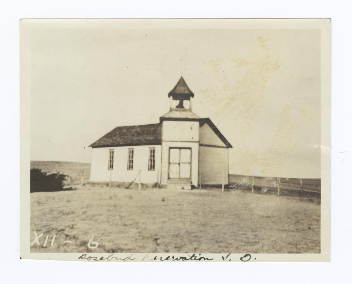 Salt Camp, Congregational Church, Rosebud Reservation, South Dakota