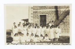 Girls at St. Mary's Epicopal Mission School, Rosebud Reservation, South Dakota