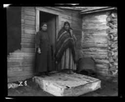 Pastor's Wife and Another Member of Gilbert Memorial Church, Rosebud Reservation, South Dakota
