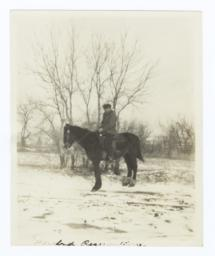 Jesse Standing Buffalo on Horseback, Rosebud Reservation, South Dakota