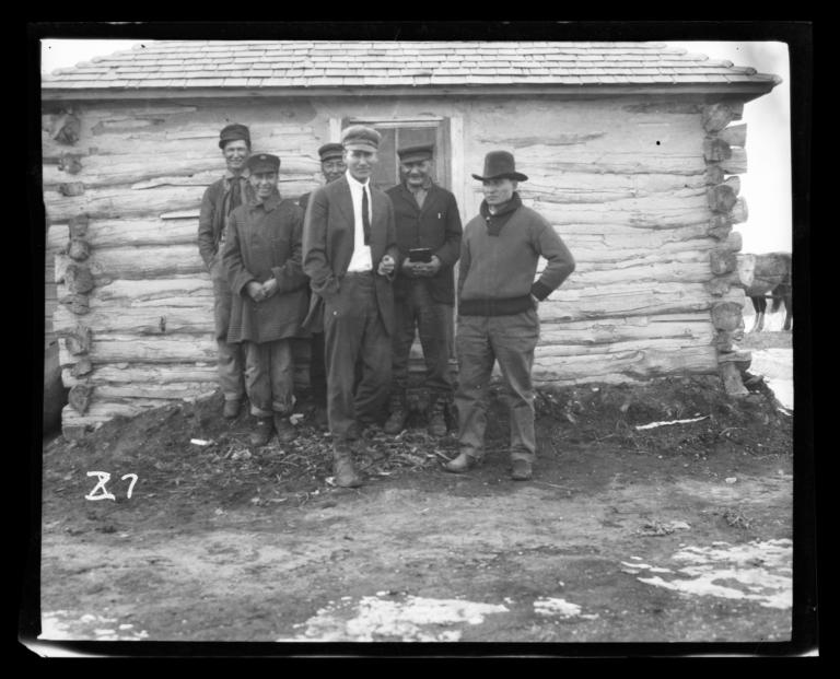 Group at Gilbert Memorial Congregational Church, Rosebud Reservation, South Dakota