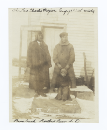 Reverend Charles Frazier, with an American Indian Man and Son, Rosebud Reservation, South Dakota
