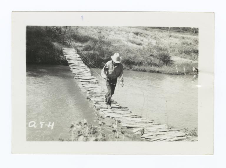 Footbridge over Little White River, Rosebud Reservation, South Dakota